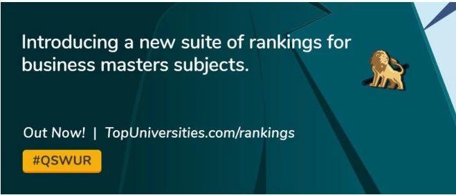 2020年QS全球商科硕士大学排名!