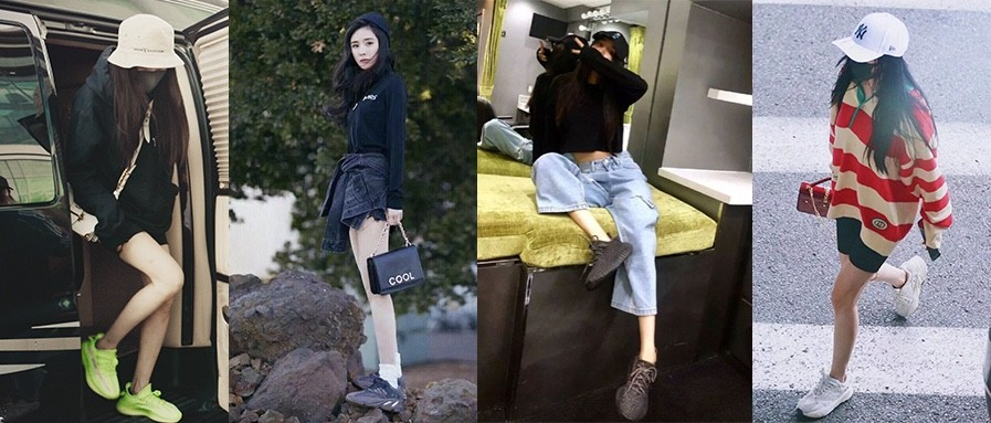 带货女王杨幂竟然还是位隐藏的YEEZY女鞋头,这些上脚鞋款哪款是你的菜?