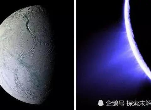 """天文奇观!NASA发现:土卫二向邻近的卫星喷射""""雪炮"""""""