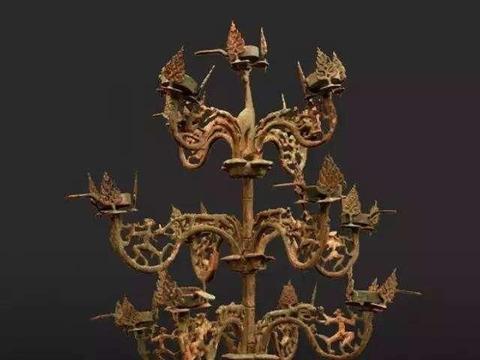青铜树形灯座——商品的包装设计