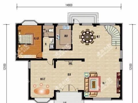 客厅挑空配旋转楼梯,多阳台设计的四层别墅,住此房生活质量高