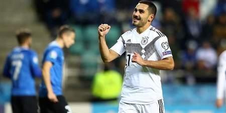 两射一传,京多安当选德国爱沙尼亚比赛最佳球员