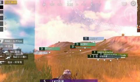 和平精英百家号杯:LKZ雨果伏地打活靶子,低打高击倒4名敌人!