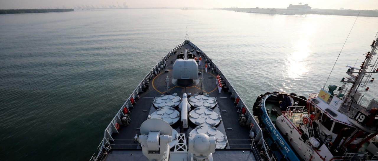 这是海军第32批护航编队的最新消息