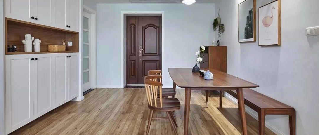91㎡简约北欧风新房收纳好又漂亮,客厅做了图书墙,绝对是小区第一