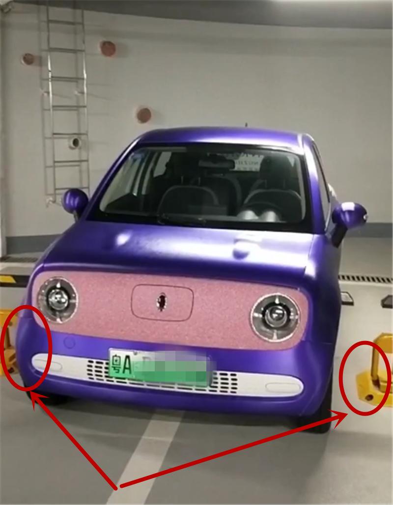 """仅3.4米长欧拉R1,全车""""渐变漆"""",小区车位装地锁,车子仍能停"""