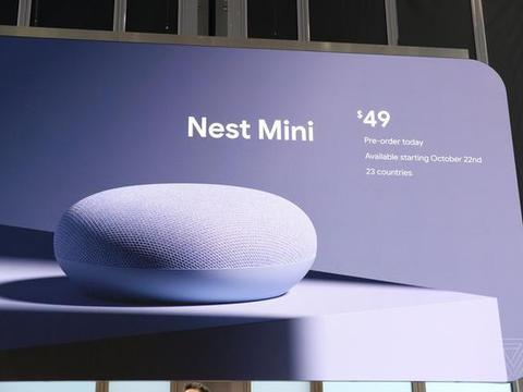谷歌发布Nest Mini智能音箱 售价49美元