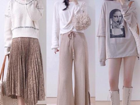 毛衣真是个好东西,冷了配长裤高级性冷淡,热了搭短裤风情万种
