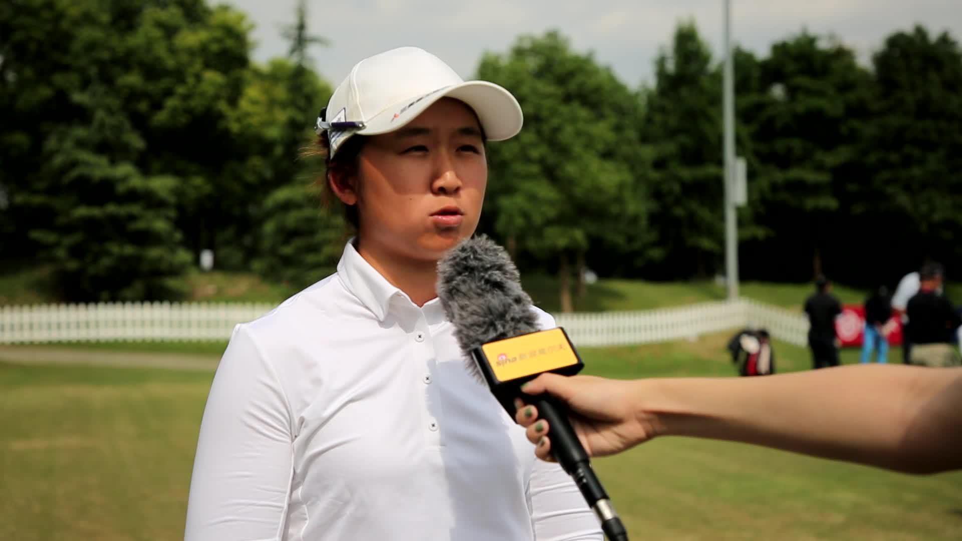 阎菁备战别克LPGA赛