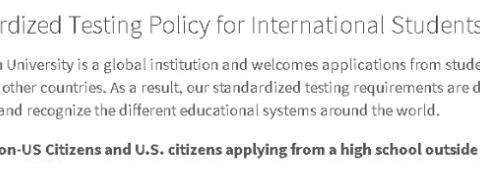 院校申请:圣路易斯华盛顿大学标化成绩要求变化