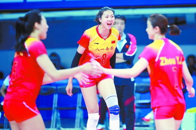 军运会排球比赛揭幕八一女排胜美国队,为中国体育代表团拿下首胜