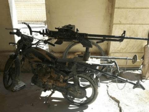 库尔德采取游击战,五羊摩托载中国造高射机枪,土耳其节节败退