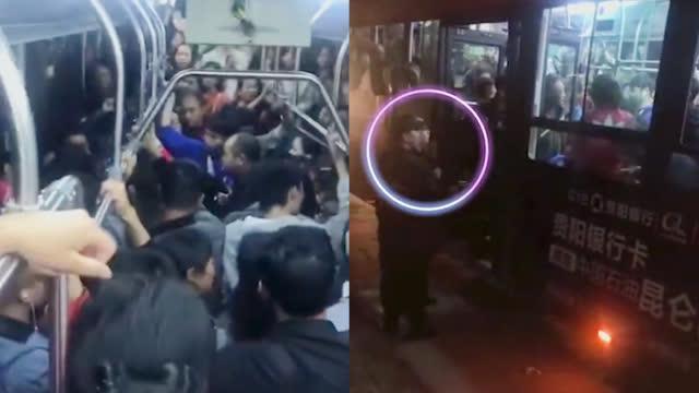 【解气!男子公交车上猥亵女大学生 车上乘