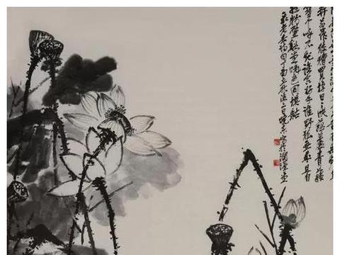 其花鸟章法之布局讲究大开大合,强调画现的气势和艺术感染效果