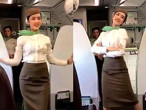 越南空姐在飞机上跳舞走红,网友曝光其社交账号称:应该去选美