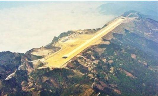 """中国最危险机场,被称为""""山顶航母"""",耗资8.5亿削平65座山"""