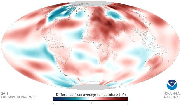 NOAA称2020年全球温度升高0.5度,还会伴随极端气候