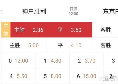 10.19 周六 日职 001:神户胜利vs东京fc 信心:五星