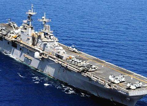 美国两栖攻击舰搭载五代机,排水量达45722吨,航速约20节
