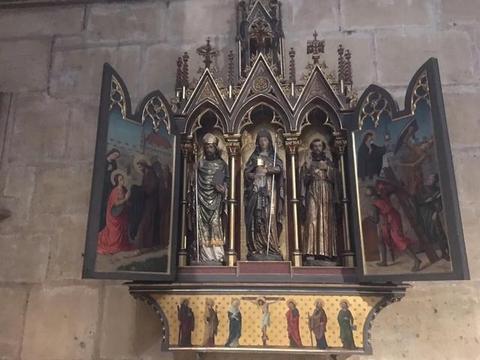 梅斯,大教堂内部夏加尔老练童趣,真实梦幻的彩色玻璃