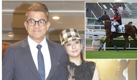 郭富城携妻看赛马,爱驹勇夺第二赢奖金约27万,方媛穿搭有进步