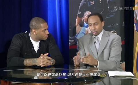 """""""NBA著名的名嘴当着安东尼的面说安东尼不是一个超级巨星。"""""""