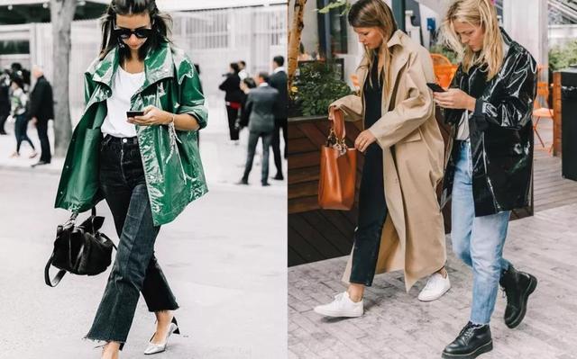 秋冬强行安利一波风衣,黑色不愧是经典色系,配高筒靴最霸气