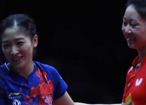 刘诗雯4-0张安,比赛末尾打出了一个小高潮,刘国梁都笑了!