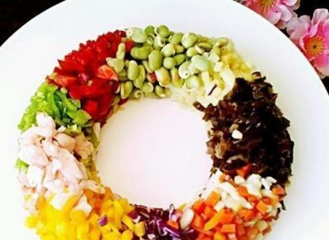 七彩环沙拉,营养不用夸,健康又美味,瘦身能加倍,越吃人越美!