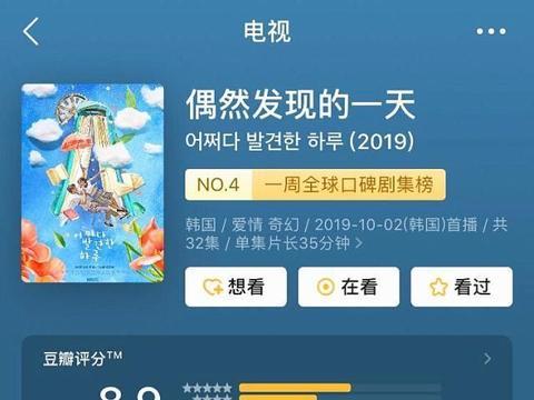 评分高达8.9的韩剧《偶然发现的一天》,仅仅是剧情够玄幻吗?