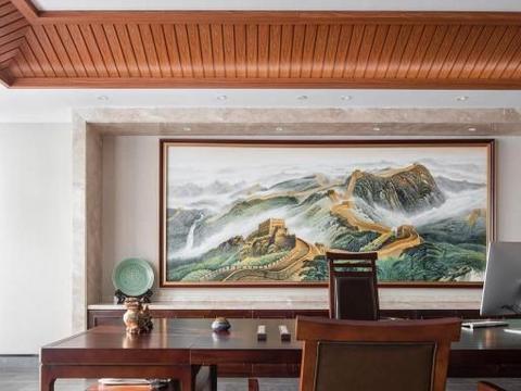 这座豪宅式的私人会所,1200㎡超大格局,里面红木家具