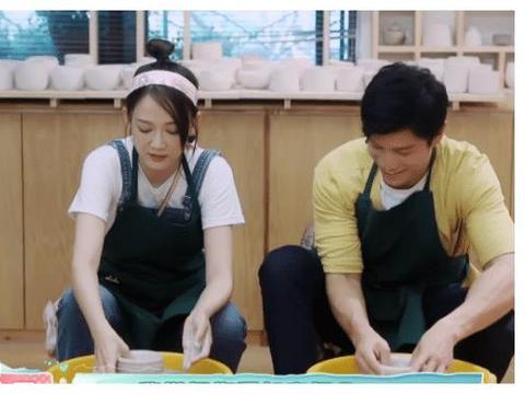 陈乔恩与新男友做陶瓷,看到双手合拢那刻后,网友:请原地结婚