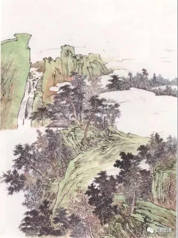青绿山水图文教程——《丹崖红树图》