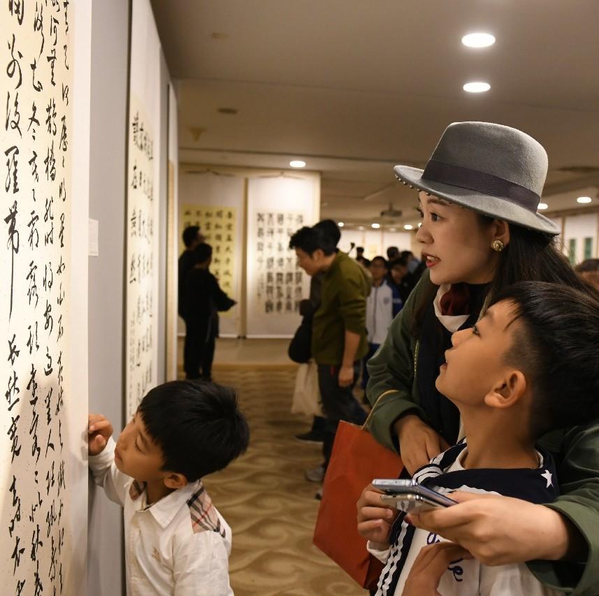"""第二届""""墨缘杯""""北京市青少年书法比赛""""获奖作品展览开幕"""