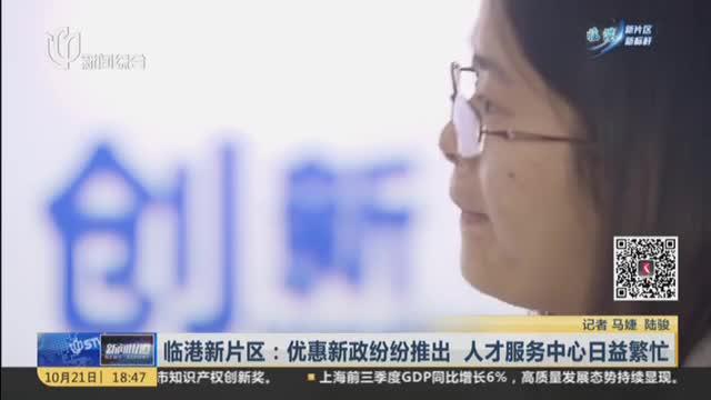 临港新片区:优惠新政纷纷推出  人才服务中心日益繁忙