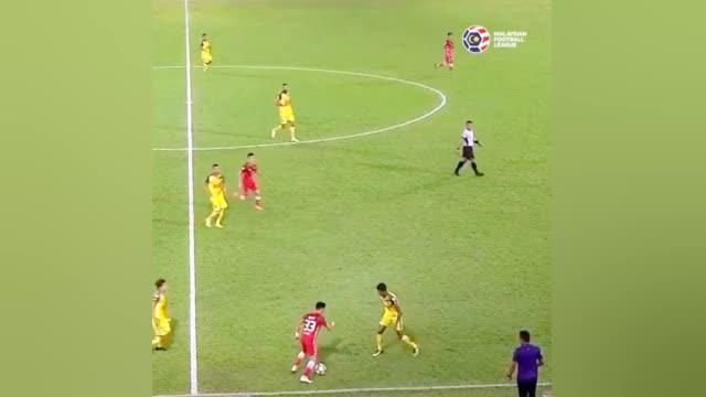 马来西亚联赛中的这次摆脱过人什么水平?