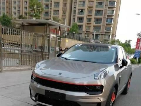 领克05无伪实车曝光 轿跑车身设计/或明年北京车展亮相
