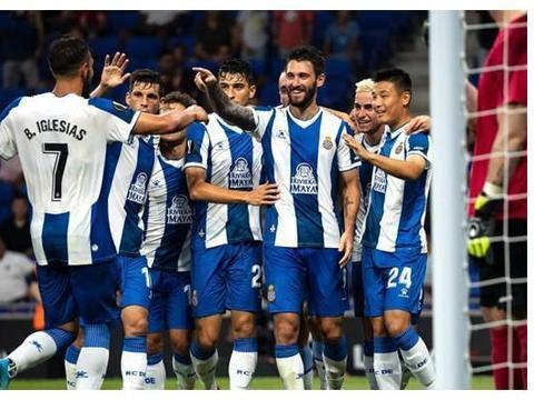 欧联杯资格赛西班牙人4球大胜,武磊上演欧战首秀