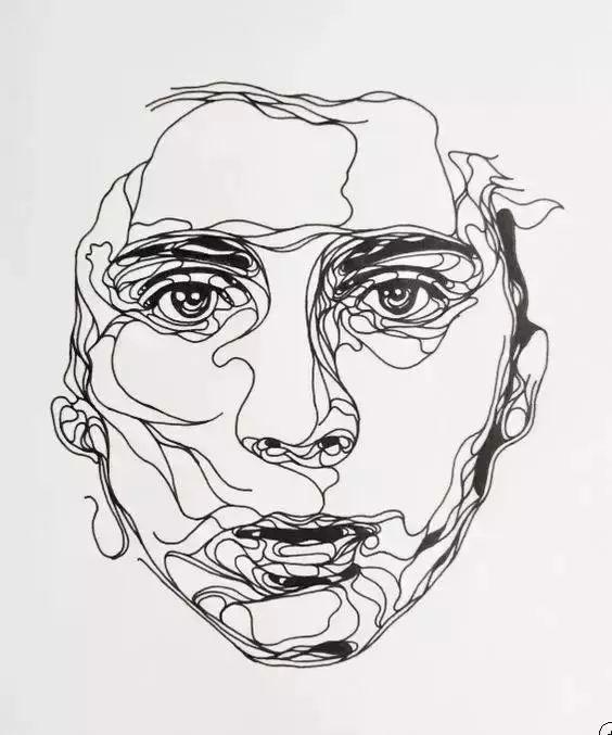 比利时艺术家 Kris Trappeniers的线条艺术