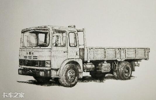 碉堡了,卡友手绘国产经典卡车,给这位秀儿双击666!