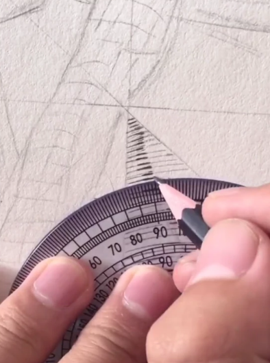 美术生用尺子画画,开头:这有什么难的,看到最后:打脸了!