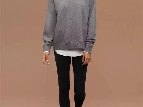 倪妮的大长腿,多亏了这条显瘦的黑色小脚裤,吊打阔腿裤!