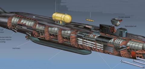 俄军2.4万吨核潜艇亮相,搭载无人潜航器,下潜深度超过日本海沟