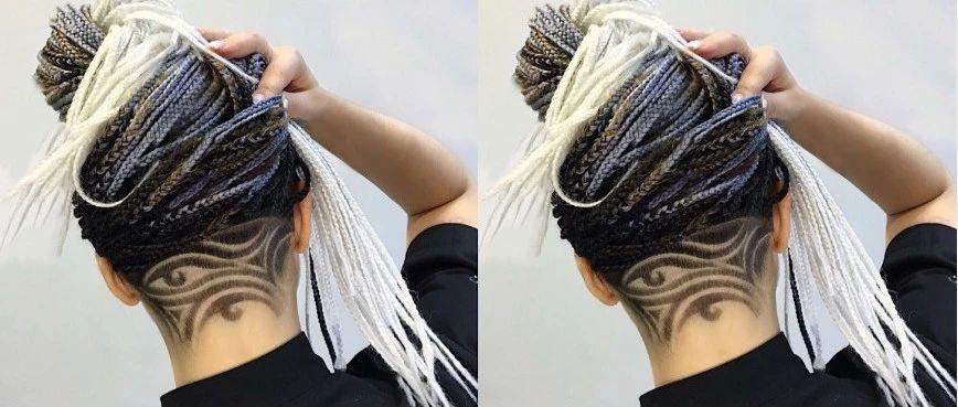 女士后颈部创意雕刻