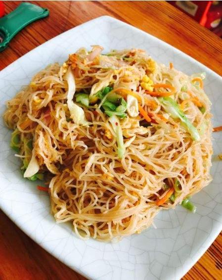 大厨教你沙县小吃特色炒米粉,简单易做,学会之后在家就能做