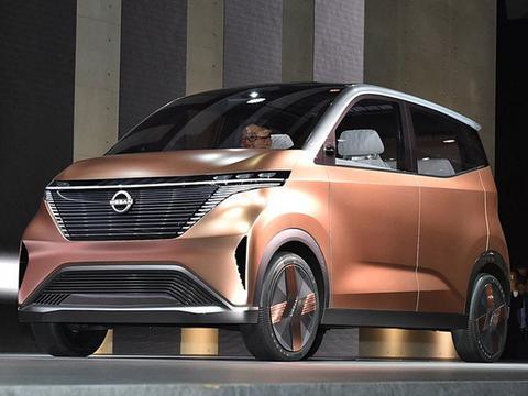 日产IMK纯电动概念车实拍 用手机就能自动泊车