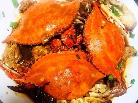 又到吃蟹的季节,送您家常梭子蟹菜谱,红烧梭子蟹,美味吃不够