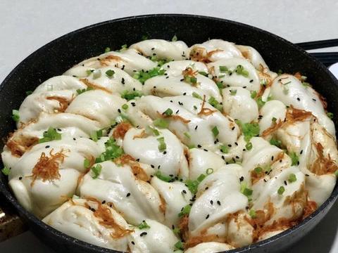 开胃早餐:生煎肉松花卷,开启活力满满的一天
