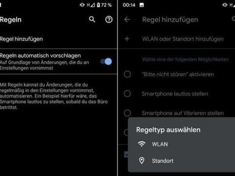 Pixel智能机可自动设置Android 10的某些规则
