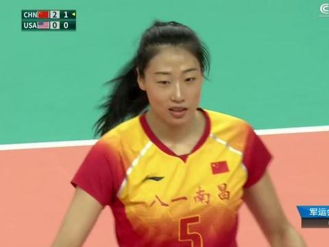 军运会决赛19扣3中,女排二队领袖被打回原形,她已远离奥运会!